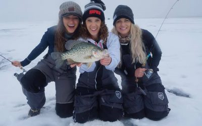 Female Anglers Ana, Nicole, Nattie Up North